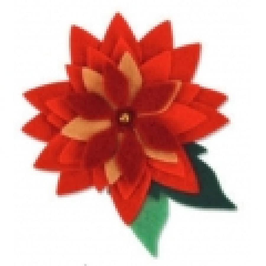 Stella Di Natale Big Shot.Stella Di Natale Pretty Poinsettia