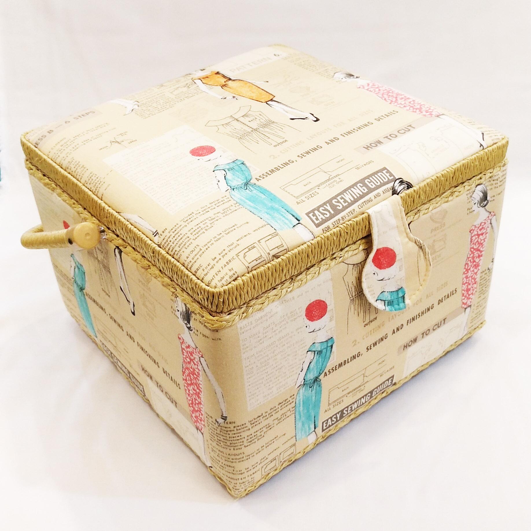 Cestini Da Lavoro Per Cucito cestino portalavoro l beige disegni cucito