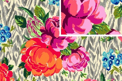VOILE: hapy tapestry rose linen di Amy Butler - H. 1,50
