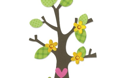 Albero - Tree w/Flower, Heart & Leaves
